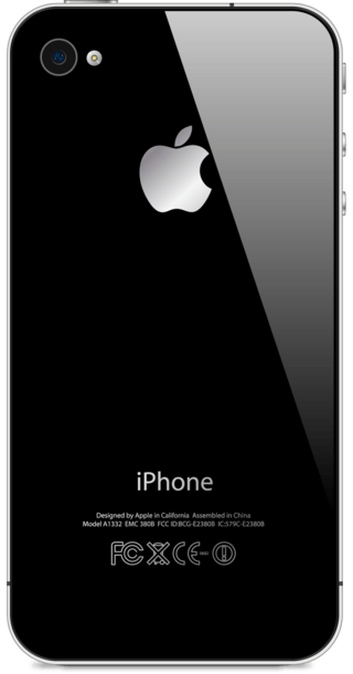 Apple iPhone 4S 8GB Black back