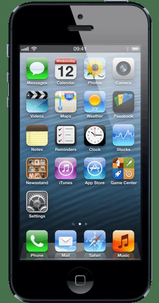 Apple iPhone 5 16GB Black front