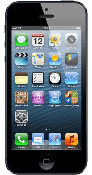 Apple iPhone 5 64GB Black front