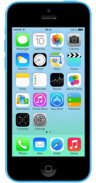 Apple iPhone 5c 16GB Blue front