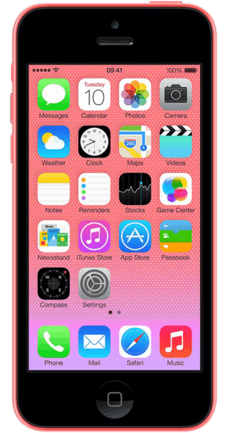 Apple iPhone 5c 32GB Pink front