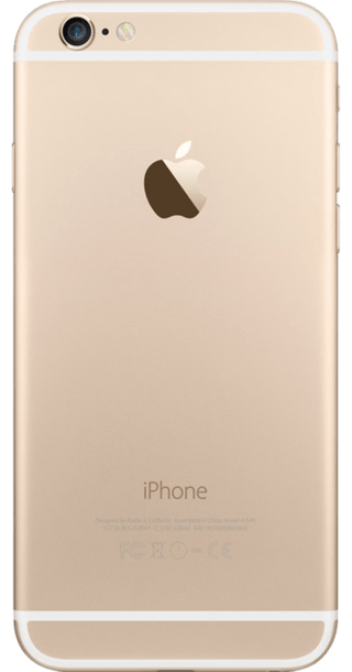 Apple iPhone 6 16GB Gold back