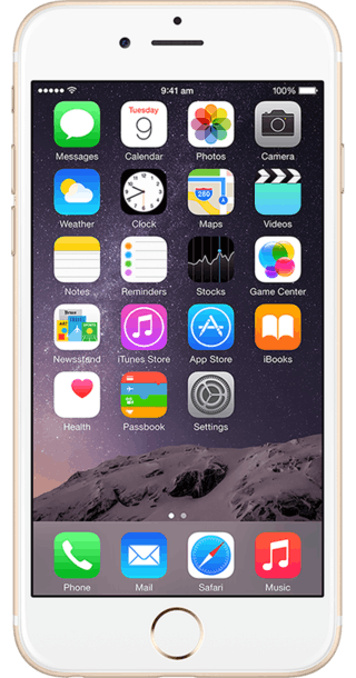 Apple iPhone 6 128GB Gold front