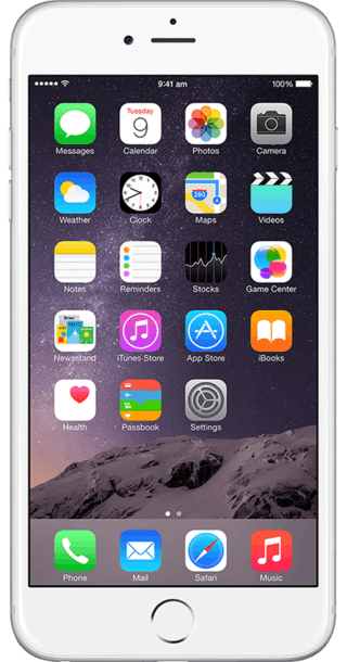 Apple iPhone 6 Plus 16GB Silver front