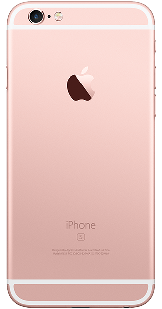 Apple iPhone 6s 16GB Rose Gold back