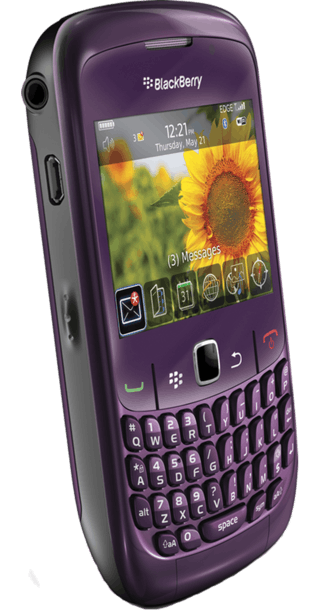 BlackBerry Curve 8520 Purple back