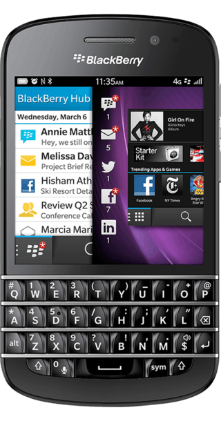 BlackBerry Q10 front