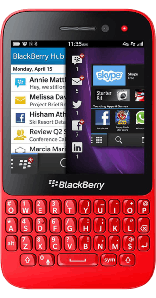 BlackBerry Q5 Red front