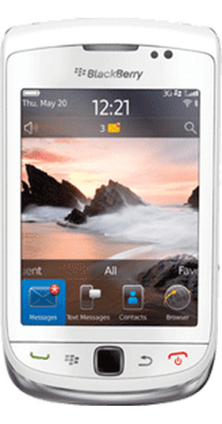 BlackBerry Torch White front