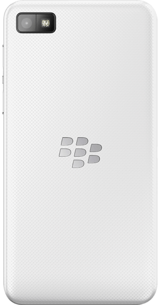 BlackBerry Z10 White back