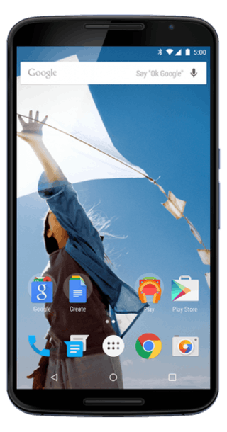 Google Nexus 6 64GB White front