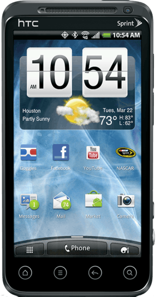 HTC Evo 3D front