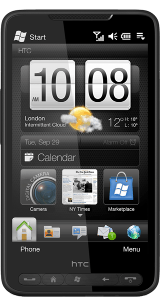 HTC HD2 front
