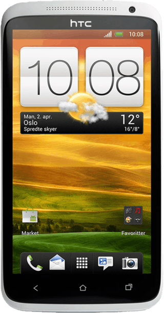 HTC One X White front