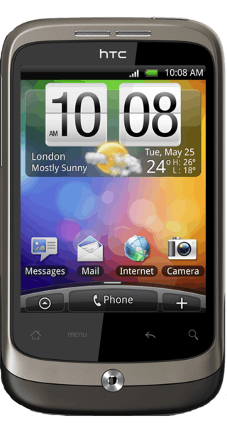 HTC Wildfire front
