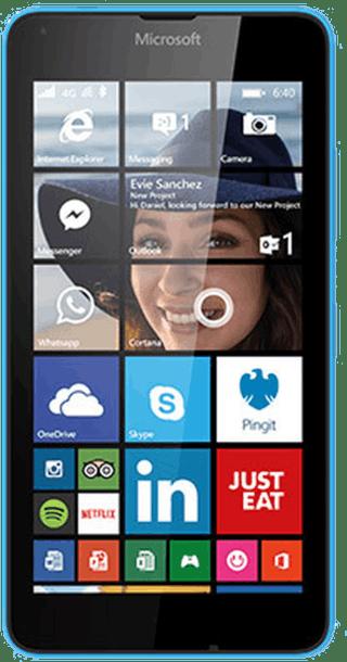 Microsoft Lumia 640 Blue front