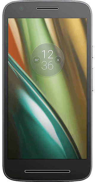 Motorola Moto E3 8GB Black front