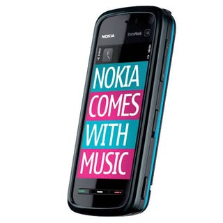 Nokia 5800 Comes With Music side