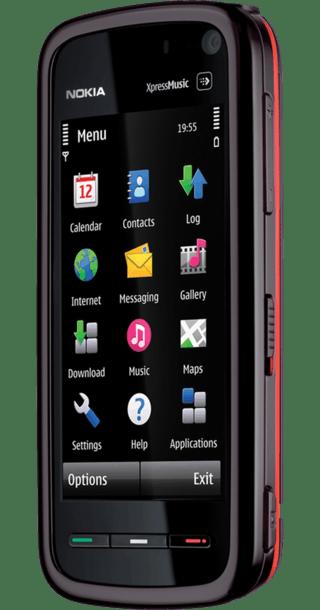 Nokia 5800 XpressMusic back