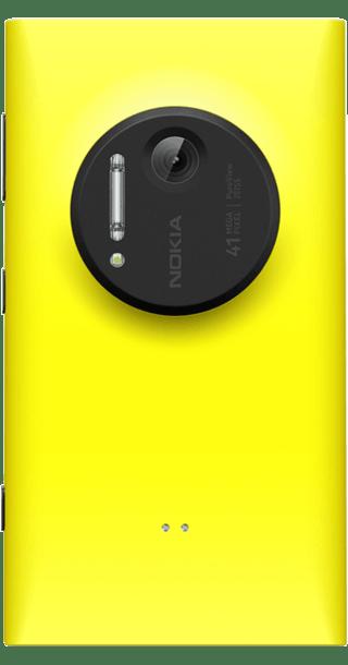 Nokia Lumia 1020 Yellow back