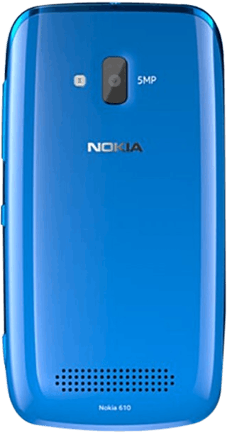 Nokia Lumia 610 Blue back
