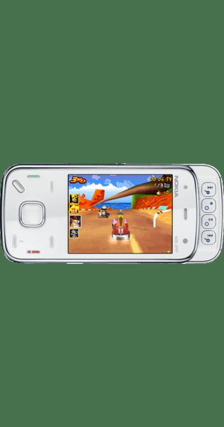 Nokia N86 White back