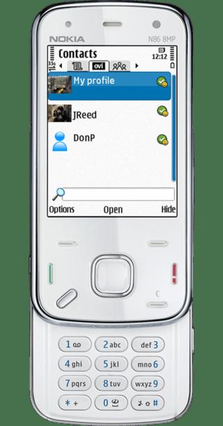 Nokia N86 White front