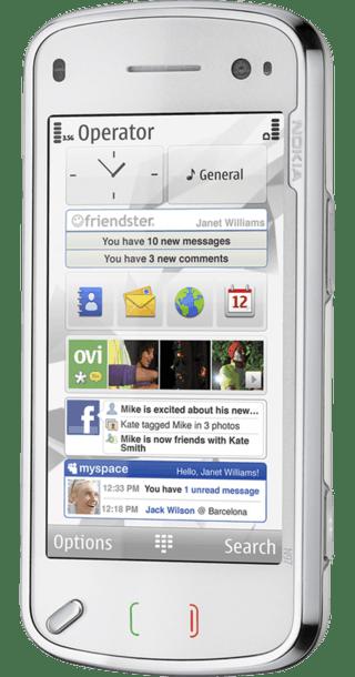 Nokia N97 White side
