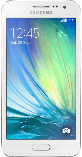 Samsung Galaxy A3 White front