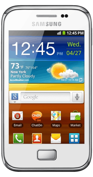 Samsung Galaxy Ace Plus White front