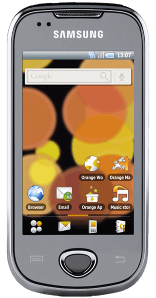 Samsung Galaxy Apollo i5801 front