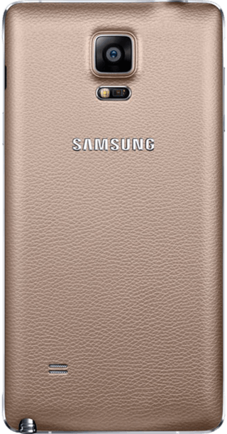 Samsung Galaxy Note 4 Gold back