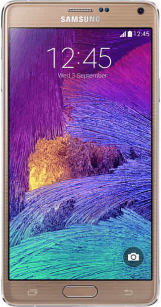 Samsung Galaxy Note 4 Gold front