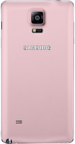 Samsung Galaxy Note 4 Pink back