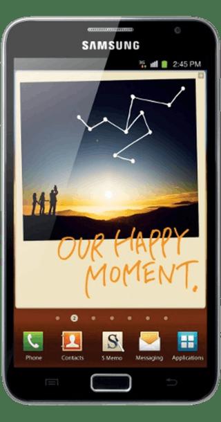 Samsung Galaxy Note back