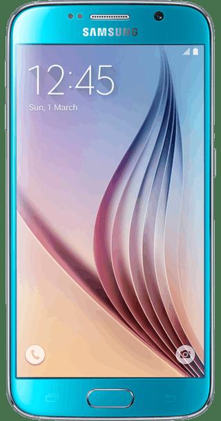 Samsung Galaxy S6 128GB Blue Topaz front