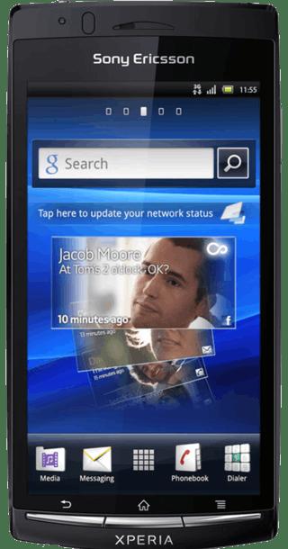 Sony Ericsson Arc S Black front