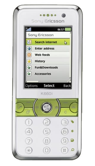Sony Ericsson K660i Silver front