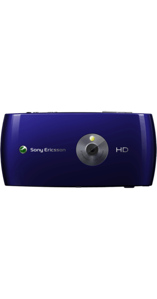 Sony Ericsson Vivaz Blue back