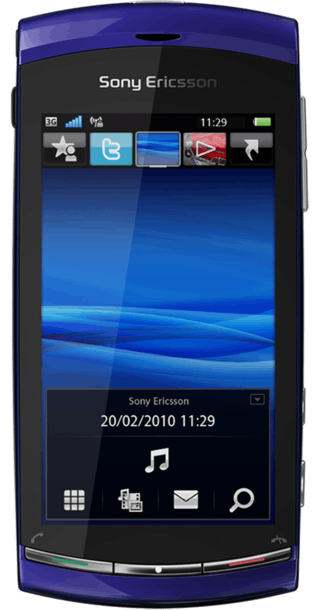 Sony Ericsson Vivaz Blue front