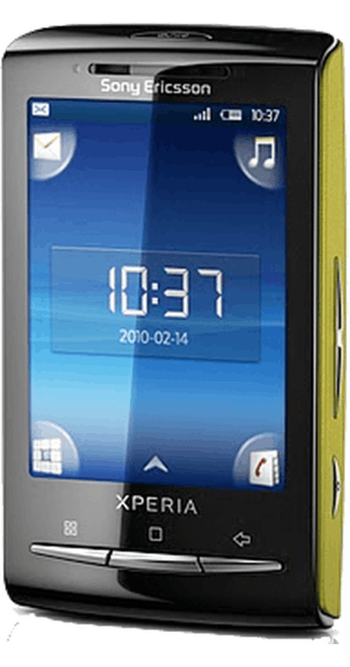 Sony Ericsson Xperia X10 Mini Lime back