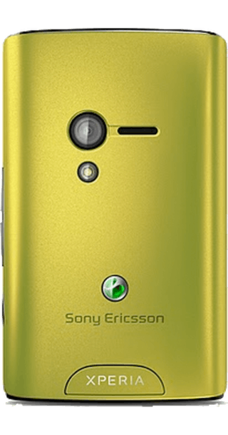 Sony Ericsson Xperia X10 Mini Lime side