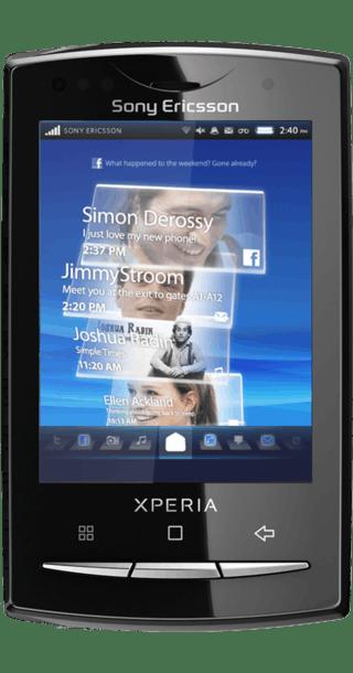 Sony Ericsson Xperia X10 Mini Pro White front
