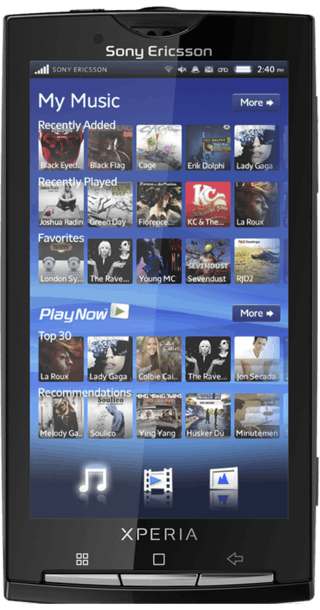 Sony Ericsson Xperia X10 front