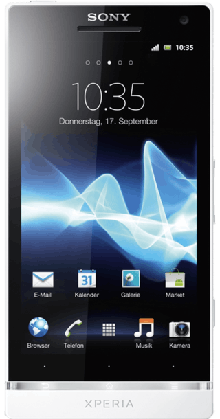 Sony Xperia S White front