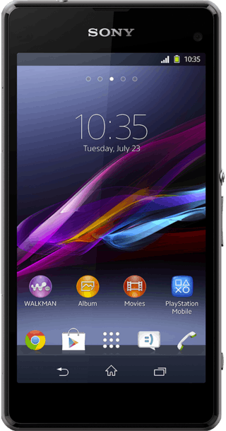 Sony Xperia Z1 Compact front