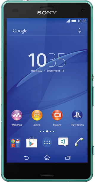 Sony Xperia Z3 Compact Green front