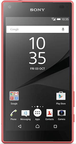 Sony Xperia Z5 Compact Pink front