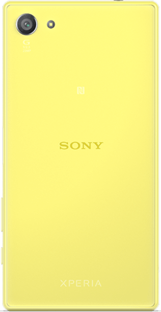 Sony Xperia Z5 Compact Yellow back