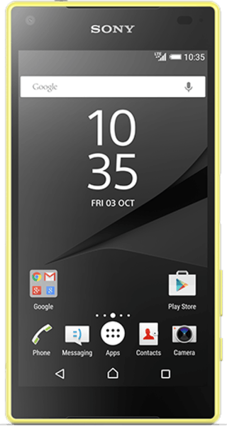 Sony Xperia Z5 Compact Yellow front